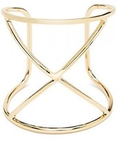 ViViCaSa Metal Fashion Wire Cuff Bangle Bracelet For Girls Women, Gold - $20.37