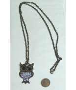 """32"""" Chain 1 7/8"""" Studded Owl Bird Necklace Pendant Fashion Jewelry Olive... - $16.81"""