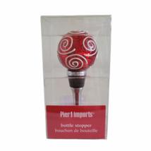 Pier 1 Imports Bottle Stopper Christmas Ornament Bouchon de Bouteille - $12.16