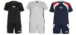 Boys Pyjamas Kids Short Sleeve T-shirt Shorts 2 Piece Set Children Footb... - $12.54+