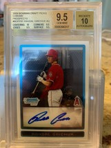 2009 Randal Grichuk Bowman Chrome BGS 9.5 10 AUTO Blue Jays Rookie RC Ca... - $37.36