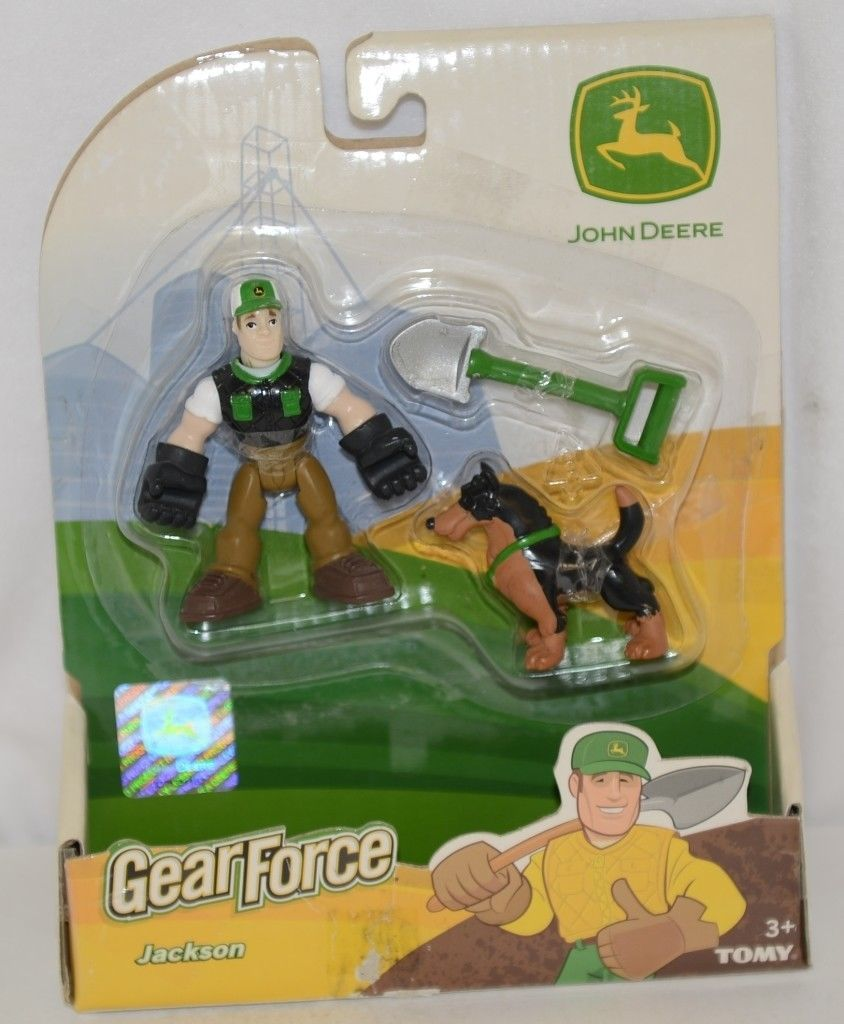 John Deere LP51318 Gear Force Jackson Action Figure Shovel Dog