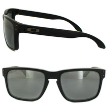New Oakley Sport Holbrook Matte Black w/black Iridium Polarized OO9102-62 - $196.76