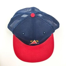 Anaheim Angels Vintage MLB Snapback Hat Mesh Trucker Hat A Halo - $22.00