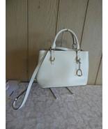 $248.00 Lauren Ralph Lauren Bennington Satchel, Vanilla/ Gold - $94.05