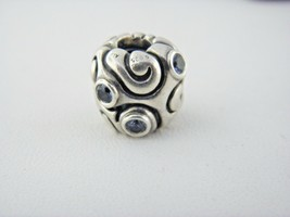 Pandora Ale Charm Weiß Blau Cz in Sterling Silber - $38.22