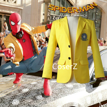 Custom Spider-Man Homecoming Peter Parker Yellow jacket Cosplay Costume  - £46.10 GBP