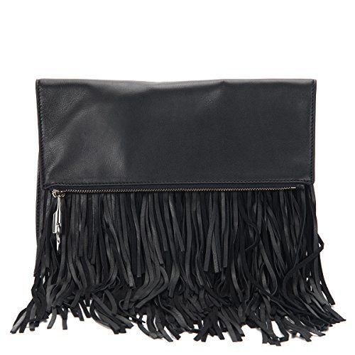 Elizabeth & James Andrew Fold Over Clutch AE15C016 Black