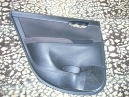 2013 NISSAN SENTRA LEFT REAR DOOR TRIM PANEL BLACK WITH GRAY MOULDING