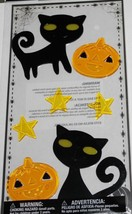 Halloween   **CATS & JACK O LANTERNS**   Gel Clings    NIP - $3.75
