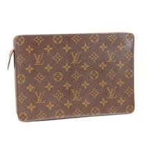 Louis Vuitton Monogramm Handtasche Homme Clutch Tasche M51795 LV Auth 7790 - $251.55