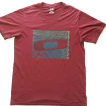 Oakley Brand Red T Shirt Regular Fit Men's Size Medium - $9.89