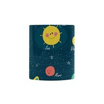 Sweety Love Store-The Solar System Coffee Mugs,White Heathly Ceramic Mug... - $22.09 CAD
