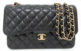 Chanel Jumbo Black Caviar Classic Double Flap Bag GHW New - $6,989.00