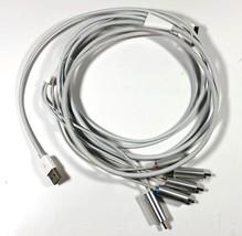 5 Rca Compuesto A/V Cable, Blanco - $7.90