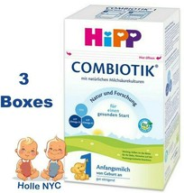 HiPP Stage 1 Bio Combiotic Infant Formula 3 Boxes 600g Free Shipping - $102.95