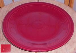 """Vtg. F Iestaware Homer Laughlin Scarlet 10.5"""" Dinner Plate. - $9.90"""