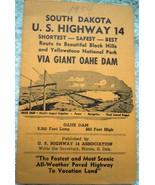 Vintage  South Dakota U.S. Highway 14 Map Booklet 1954 - $4.99