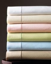 Sferra Marcus Dot Green King Sheet Set 4 PC 100% Cotton Sateen 400TC Nei... - $126.00