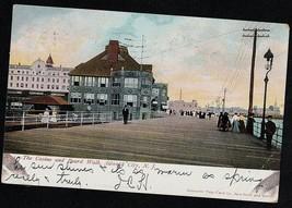 Antique Vintage Postcard The Casino & Board Walk Atlantic City, N.J. 1906 - $4.94