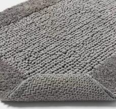 "Performance Grey Texture Bath Rug Threshold 23"" X 38"" 100% Cotton STORE NEW WTAG image 2"