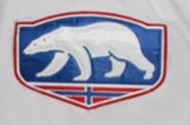 Custom Name # Team Norway Retro Hockey Jersey New White Any Size image 3