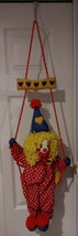 Vintage Hanging Clown On A Swing - $7.84
