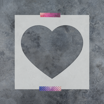 Heart Stencil - Durable & Reusable Mylar Stencils - $5.99+