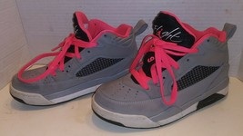 Nike Jordan Flight GG 5Y Basketball Sneakers 684895-016 PINK GRAY EUC - $29.69