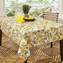 """Benson Mills Lemon Tree Indoor/Outdoor Tablecloth 84"""" Oblong - $35.00"""