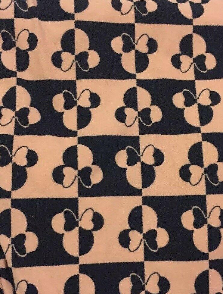 Lularoe OS Leggings Disney Peach Orange Black Minnie Mouse One Size **Unicorn** image 3