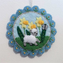 Felt Easter decoration - 'chasing butterflies' - $20.00
