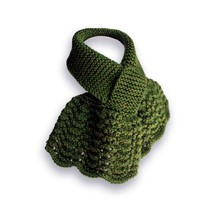 Lacy Knit Scarf, Forest Green - $35.00