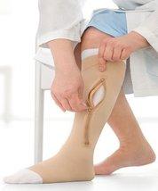 Ulcercare Knee 30-40 W/Zipper+2 Liners,Right,Open Toe,Medium,Beige - $77.12
