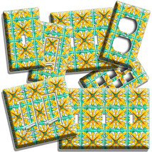 NOUVEAU MAJOLICA TILES LOOK LIGHT SWITCH OUTLET PLATE KITCHEN BATHROOM A... - $8.99+