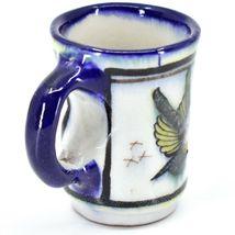 Ceramic Hand Painted Hummingbird & Flower Espresso Cup Mug Handmade Guatemala image 5