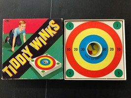 Vintage Bulls Eye Tiddly Winks Game By Whitman E98 - $9.74