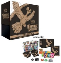 POKEMON TCG Shining Legends Elite Trainer Box 10 Sealed Booster Packs Cards - $51.95