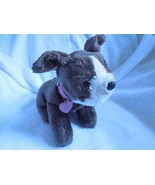 BARBIE Dk Brown Puppy Dog Stuffed Plush Sound Heart Light 2007 Barks Pants - $49.95