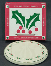 Longaberger TRADITIONAL HOLLY Trivet Christmas NEW in Box 31941 - $10.00