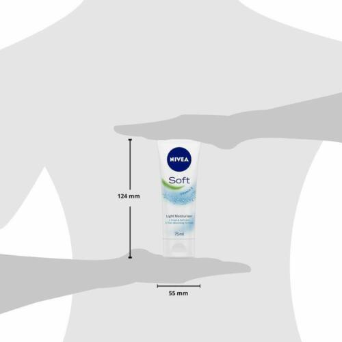 3 Pack NIVEA Soft Light Moisturizer Tube With Vitamin C, Skin Soft & Fresh 75ml