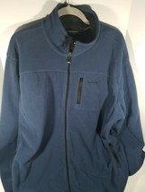 Timberland Men's XL Full Zip Up Polyester Blue Jacket Timber Land Coat - $37.61