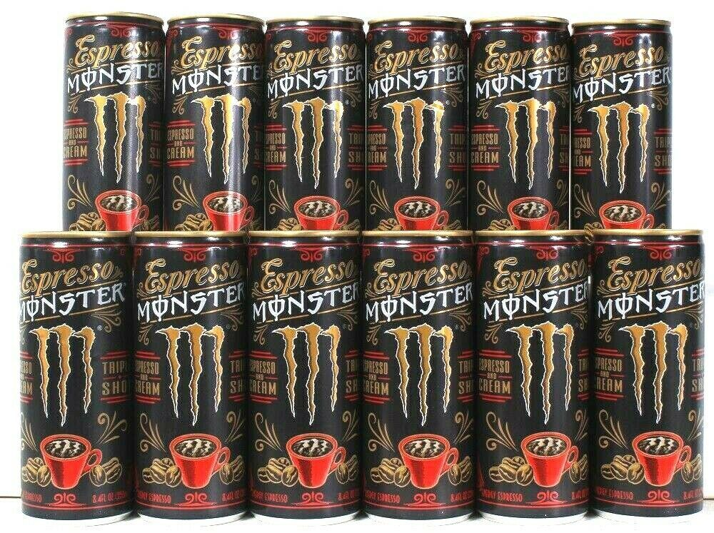 Primary image for 12 Cans Monster 8.4 Oz Espresso And European Cream Triple Shot Energy Drink