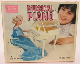 Vintage Sears Roebuck Musical Piano No. 4931156 Toy for Dolls Play House... - $49.47