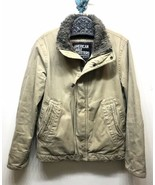 American Eagle Outfitters Men's Distressed Soft Jacket Khaki Tan Small - $33.66