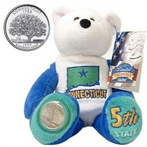 Limited Treasures Coin Bear Connecticut 5th State New with Tags NWT - $14.84
