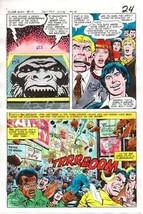 1970's DC Comics JLA Justice League of America foe color guide art:Goril... - $99.50