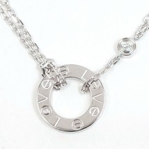Cartier Love circle necklace diamond 2P 750WG K18WG certificate - $2,267.01