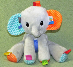TAGGIES BRIGHT STARTS PLAY PALS BABY ELEPHANT PLUSH RATTLE STUFFED ANIMA... - $22.77