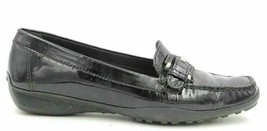 Geox Women Slip On Loafers Respira Size US 6.5N Black Patent Leather - $19.00